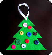 simple felt tree ornament