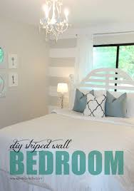 Livelovediy by Livelovediy Diy Striped Wall Guest Bedroom Makeover