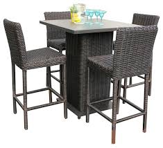 high top patio table and chairs tall patio bar set chronicmessenger com