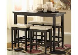 Ivory Bar Stools Kimonte Rectangular Counter Height Table W 4 Ivory Barstools