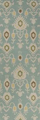 Aqua Runner Rug Bungalow Samir Cool Aqua Runner Rug Blue Ivory And Products