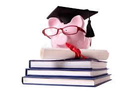 graduation diploma graduate piggy bank student collage graduation diploma stock photo