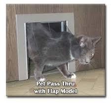 Interior Cat Door With Flap by Pet Pass Thru Interior Door Pet Door Cats Small Dogs Pet Doors