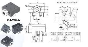 20 pcs pj 204a 5pin 2 5mm stereo jack socket mount soldering for