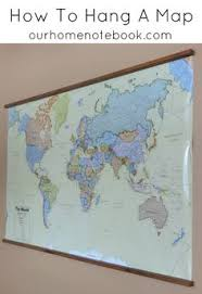 hang poster without frame want a simple way to hang a large scale map or poster here s how