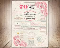 70th birthday poster uk personalized 70th birthday by invitefull