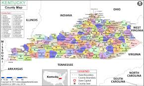 kentucky map kentucky county map kentucky counties list
