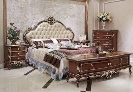 italian style solid wood bedroom furniture set antique wooden bed