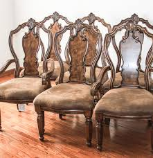 Ebth Contemporary French Provincial Style Dining Chairs By Home