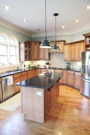 what color cabinets look with oak trim kitchen paint color this looks with wood cabinets and