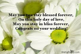wedding message card may you two stay blessed forever wedding card message