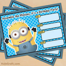 printable despicable me minion birthday invitation