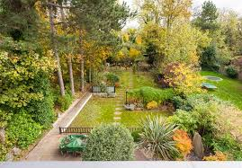 Gardens With Summer Houses - modern summer house with beautiful landscaped garden