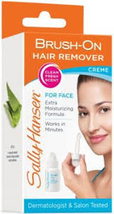 brush on hair remover for face