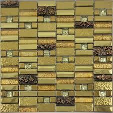 metal wall tiles kitchen backsplash gold glass mosaic tile wall plated metal tile