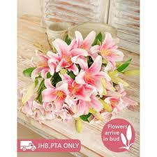 stargazer bouquet pink stargazer bouquet inmotion flowers