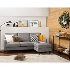 Overstock Sectional Sofas Dorel Living Kaci Grey Sectional Sofa Free Shipping On Orders
