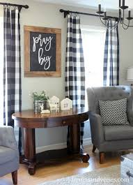 Navy Blue Plaid Curtains Fancy Black And White Plaid Curtains Decorating With Best 10 Plaid