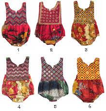 2t kantha romper vintage style baby clothing boho romper hippie