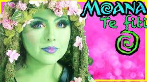 disney moana te fiti makeover makeup tutorial transformation