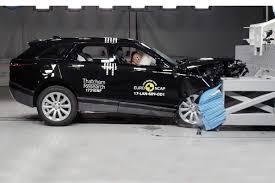 bugatti crash test range rover velar earns crash test praise the car expert