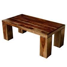 contemporary solid wood espresso coffee table w block legs