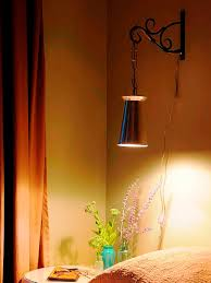Plug In Hanging Light Fixtures by How To Make An Upcycled Wall Light How Tos Diy