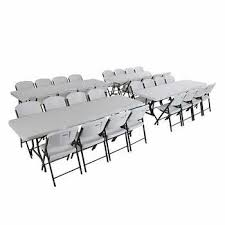 8 foot lifetime table lifetime 2 4 m 8 ft table and chair combo 4 rectangular tables
