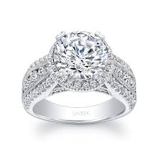 wide band engagement rings uneek 1 carat diamond wide band halo engagement ring with