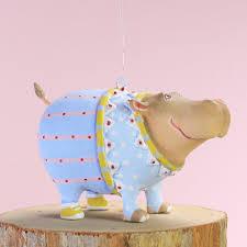 patience brewster u2013 mini hugo hippo ornament wooden duck shoppe