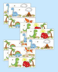 Nursery Stickers Dinosaur Wallpaper Border Wall Decals Baby Boy Nursery Stickers