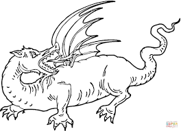 red dragon coloring page free printable coloring pages