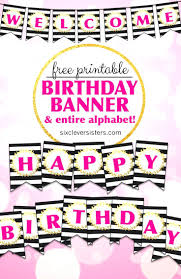 free printable 60th birthday posters and banners cards 18th free