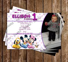 baby mickey invitations novel concept designs disney baby mickey 1st birthday invitation