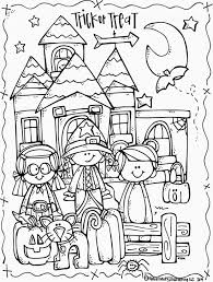 Creepy Halloween Coloring Pages by