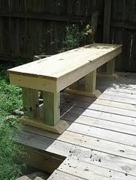 Wooden Deck Bench Plans Free by How To Build A Simple Patio Deck Bench Out Of Wood Step By Step