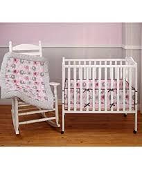 Small Crib Bedding Elephant Time Pink Porta Portable Baby 2 Crib