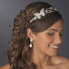 wedding headbands rhodium silver butterfly headband headpiece bridal hair