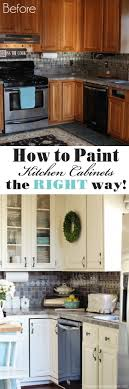 Top  Best Painted Kitchen Cabinets Ideas On Pinterest - Painting kitchen cabinet
