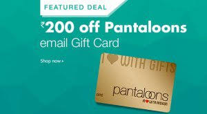 instant e gift card get pantaloons instant e gift card worth rs 1 000 at rs