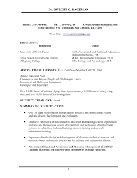 Flight Attendant Resume Objectives All Resumes College Instructor Resume Breakupus Outstanding
