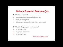 Powerful Resume Samples by How To Write A Powerful Resume To Find A Job Fast Youtube