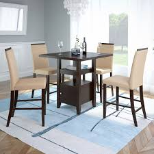 corliving bistro counter height dining table with cabinet