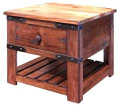 round industrial side table rustic wood side table end tables reclaimed round natural industrial