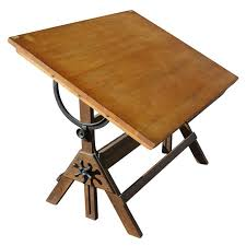 Hamilton Industries Drafting Table Vintage Hamilton Oak And Maple Adjustable Drafting Table From A