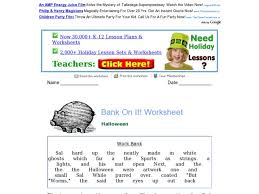 bank on it halloween 3rd 4th grade worksheet lesson planet