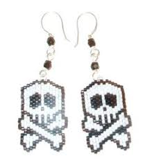 halloween witch seed bead holiday earrings blonde tags jewelry