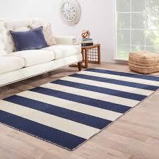 Area Rugs 9 X 12 Mendocino Handmade Stripe Navy White Area Rug 9 U0027 X 12 U0027 Free