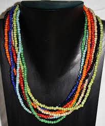 colored beaded necklace images Layers of multi colored bead necklace jpg