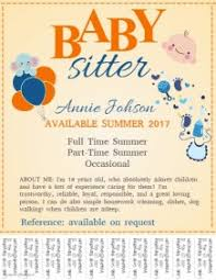 What To Put On A Babysitting Resume Babysitting Flyer Templates Postermywall